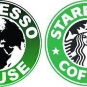 copie du logo Starbucks par un coffee shop