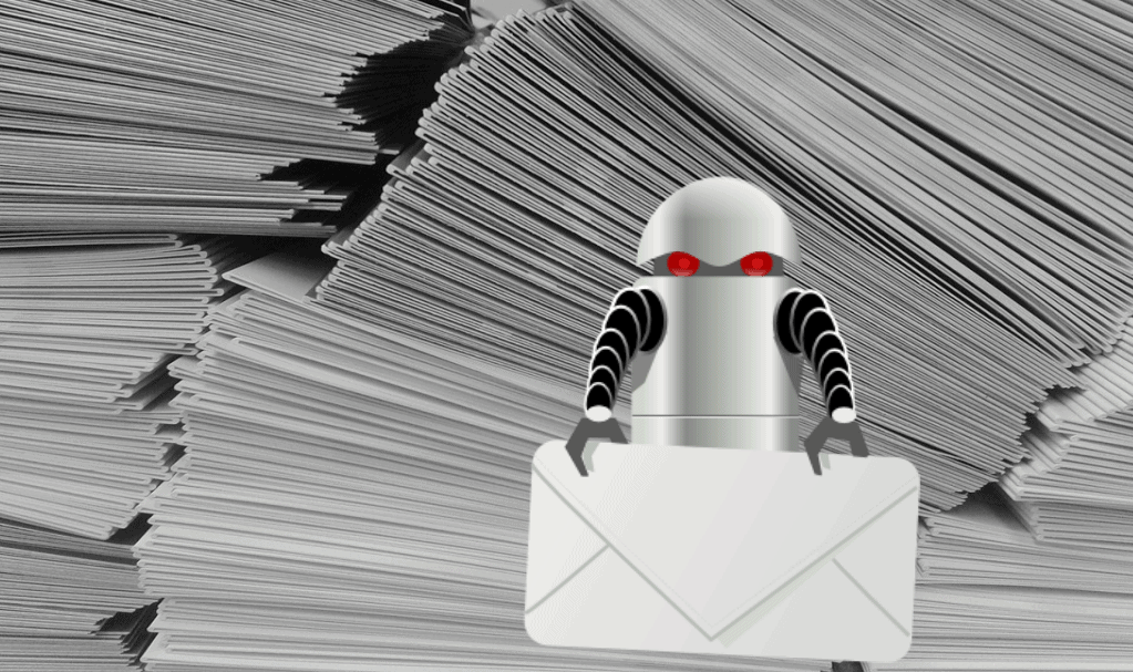 robot triant des enveloppes