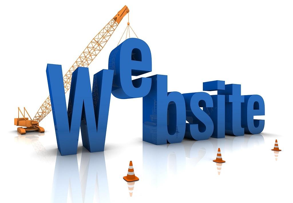 site Web en travaux