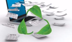 logo recycler devants des articles