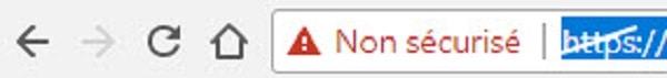 Votre site n'utilise pas le SSL, voilà ce que verront vos visiteurs sur vos pages de connexion et de formulaires