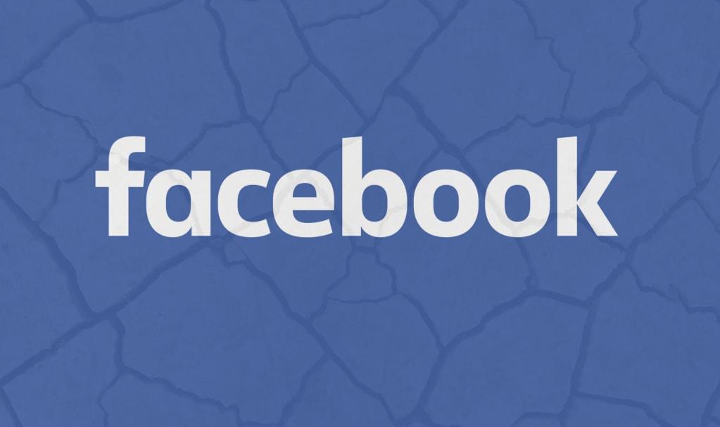 logo Facebook craquelé