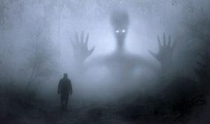 apparition d'un fantôme dans les bois