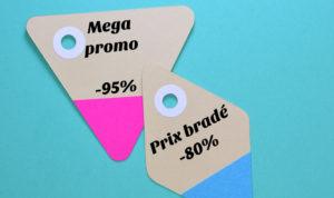 étiquettes de promotions